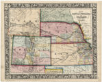 Map of Kansas, Nebraska and Colorado showing also the eastern portion of Idaho